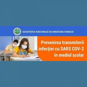 PREVENIREA transmiterii infecției cu SARS COV-2 în mediul școlar