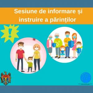 Sesiune de informare și instruire a părinților