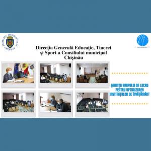 Ședința grupului de lucru pentru optimizarea instituțiilor de învățământ